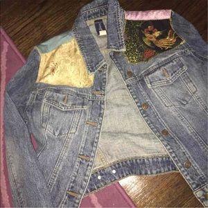 Gap patch oversized denim jacket